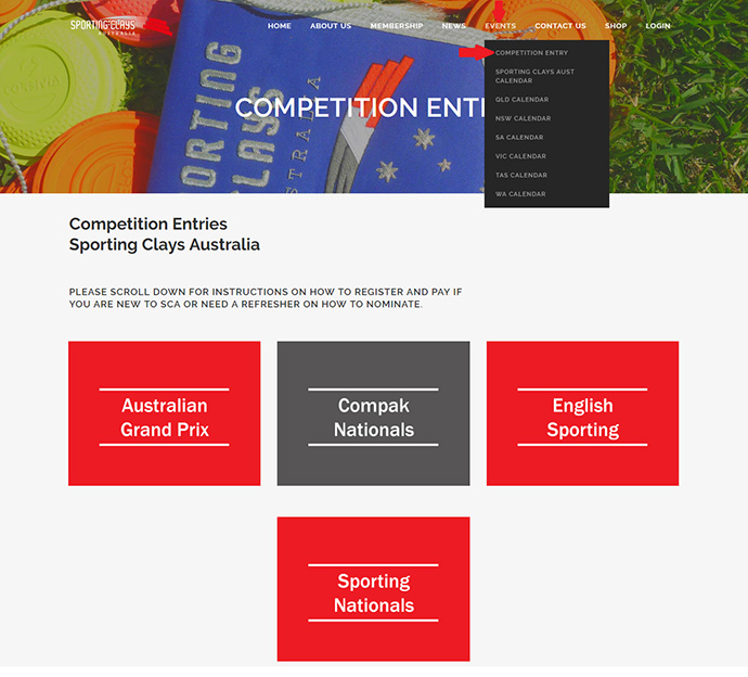 competition entry page