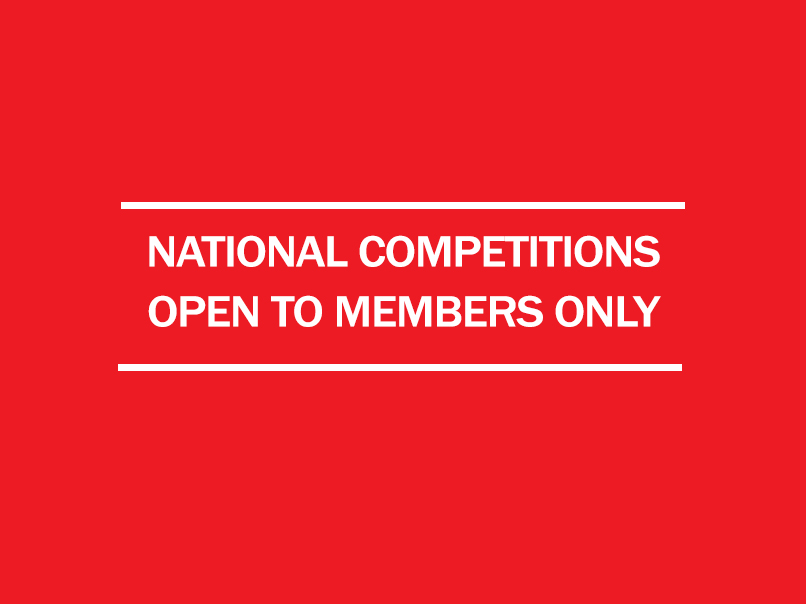 national competitions open to members only