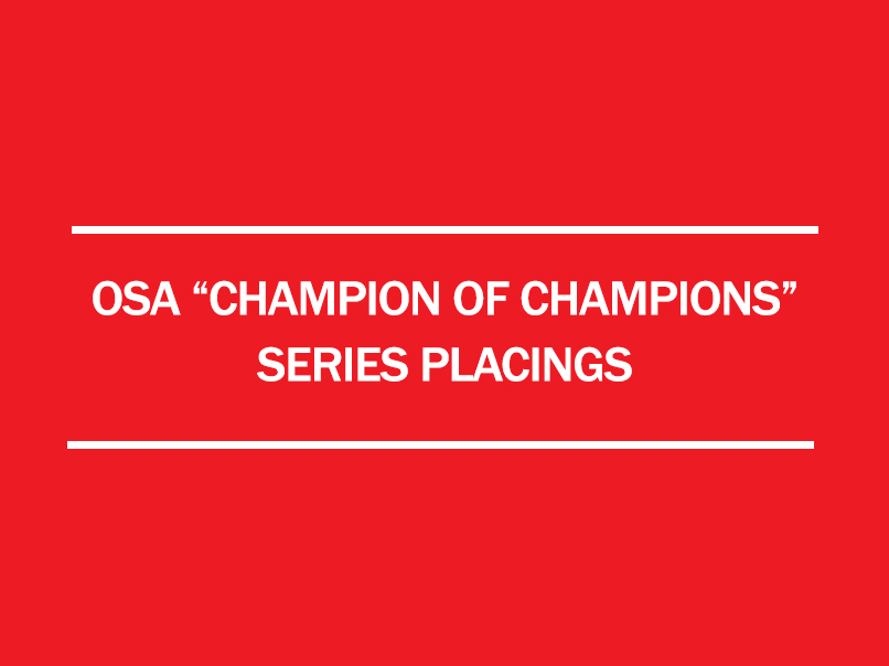 2017 osa champion of championship series placings