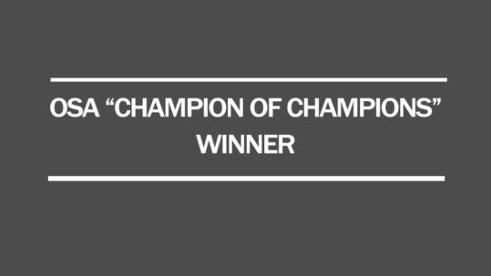 2017 osa champion of championship series winner