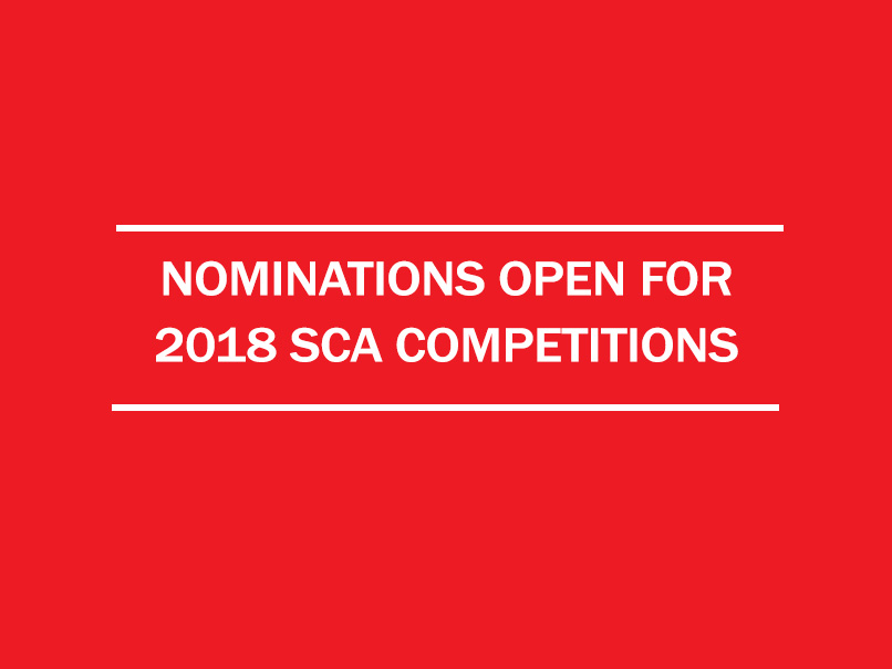 nominations open for 2018 sca competitions