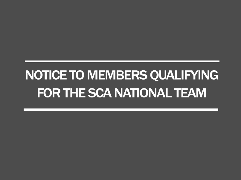notice to members sca national team