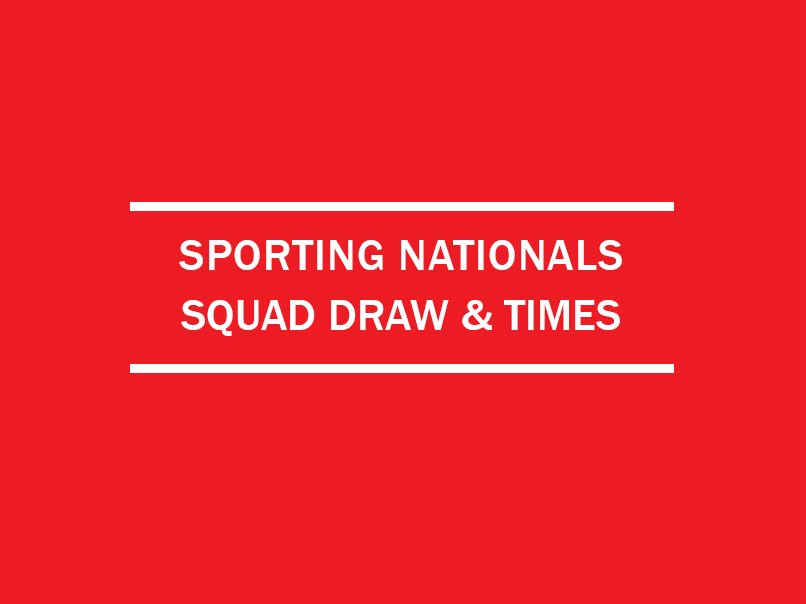 national squad draw squad times