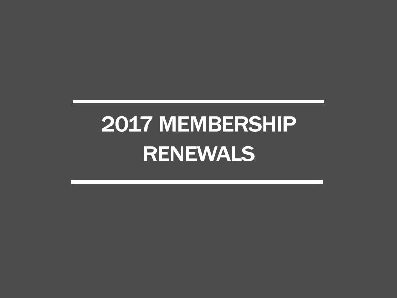 2017 membership renewalsn