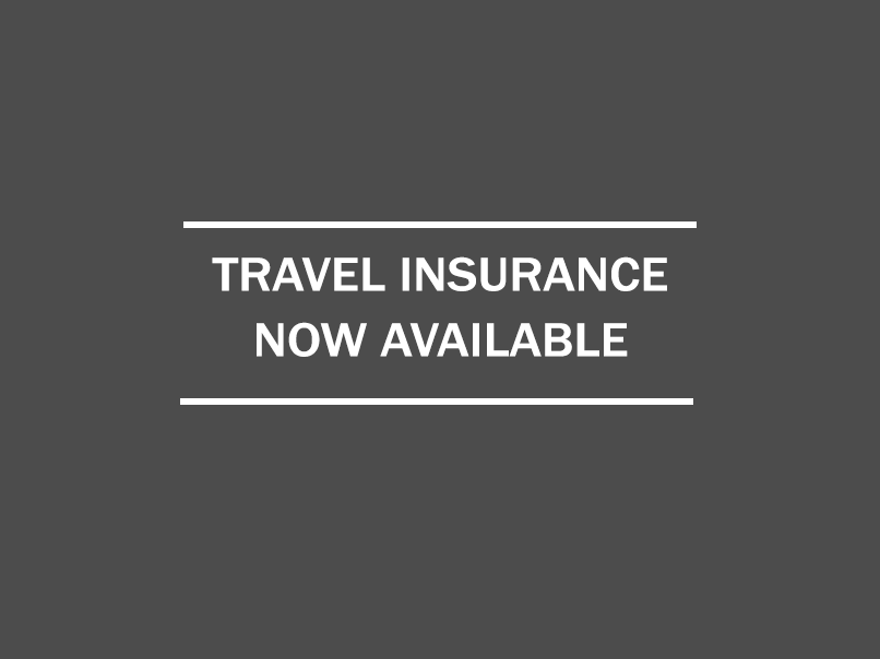 Travel insurance now available