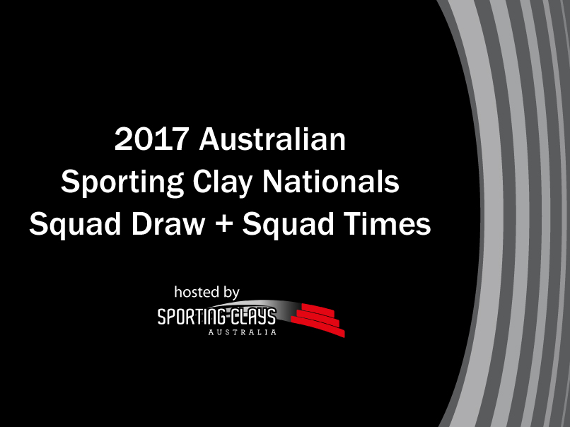 2017 sporting nationals squad draw and squad times