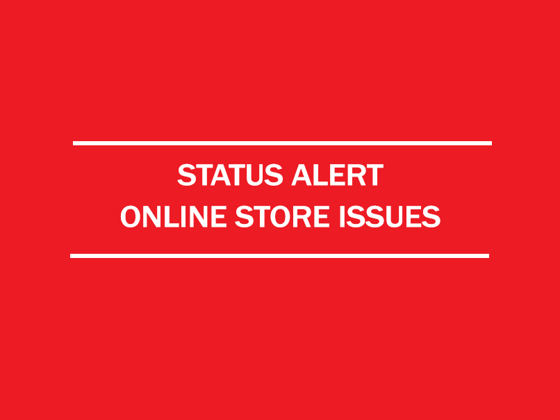 status alert - online store issues