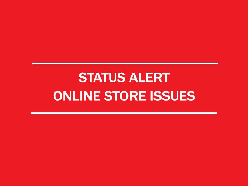 status alert - online store issues