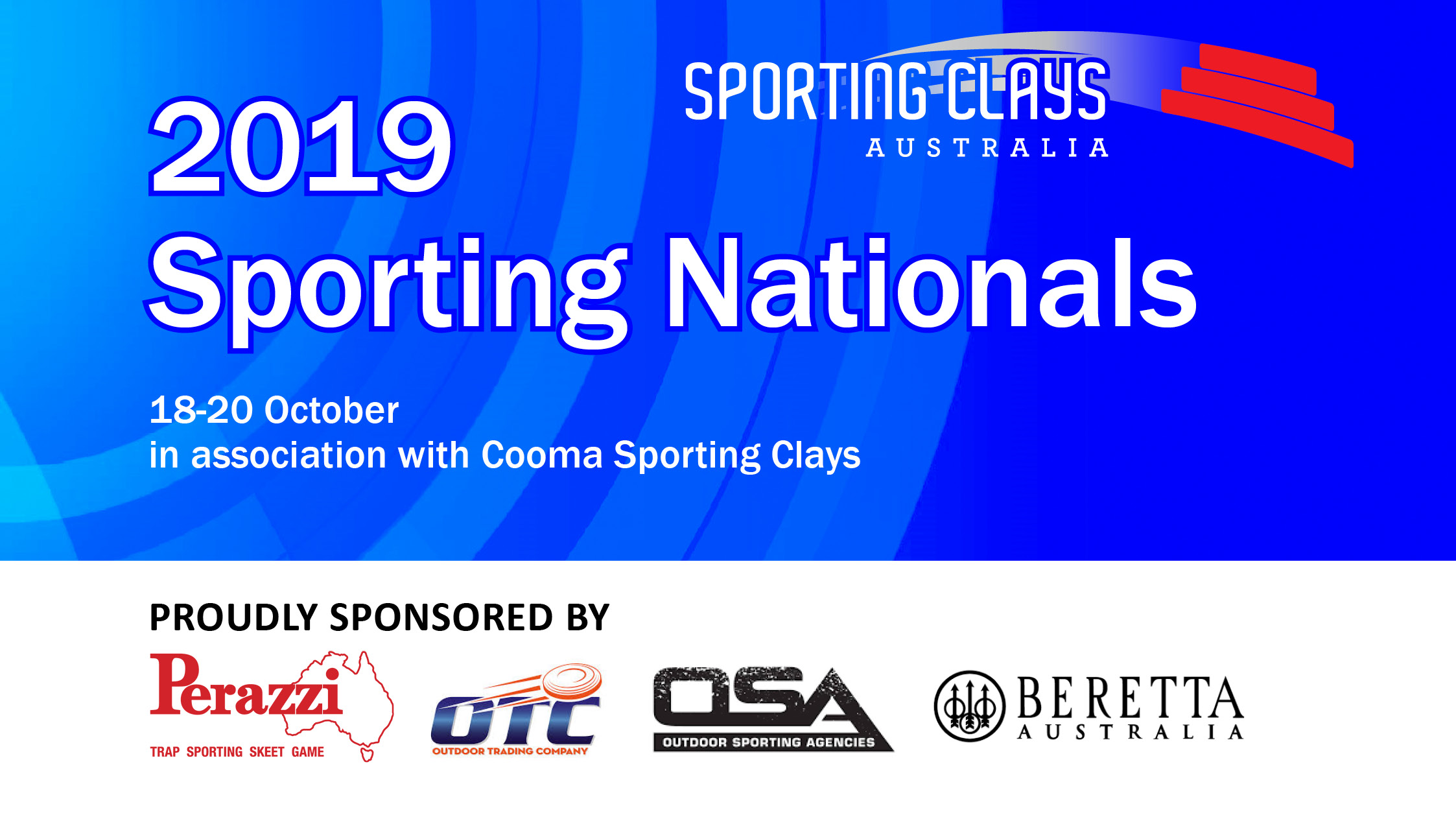 2019 Sporting Nationals 18-20 October in association with Cooma Sporting Clays