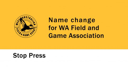 name change for WA Field and Game Association